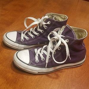 Converse purple high tops